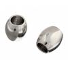 Metal Bead Oval Shape 8X8mm Plated Nickel